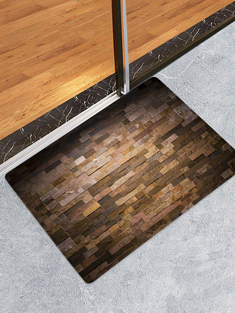 Best Vintage Brick Wall Print Flannel Floor Mat