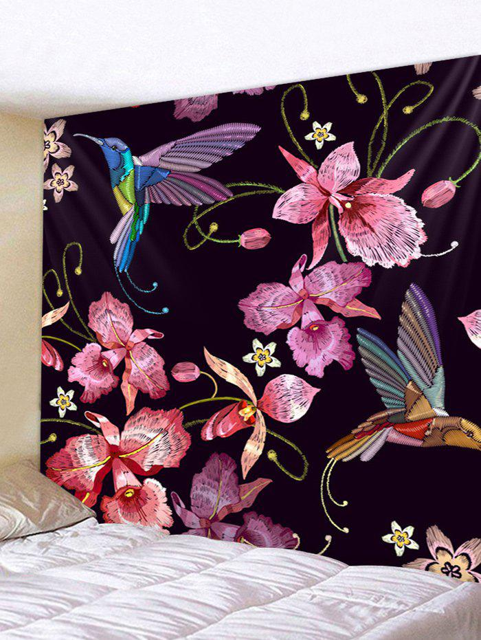 Best Wall Hanging Art Flowers and Birds Print Tapestry