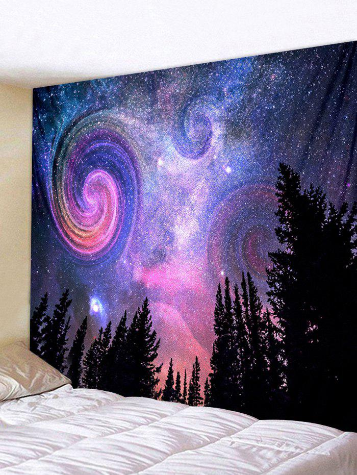 Unique Wall Hanging Art Galaxy Forest Print Tapestry