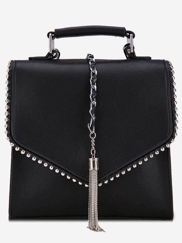 Buy Multi Function Metal Tassel Chain Flap Backpack