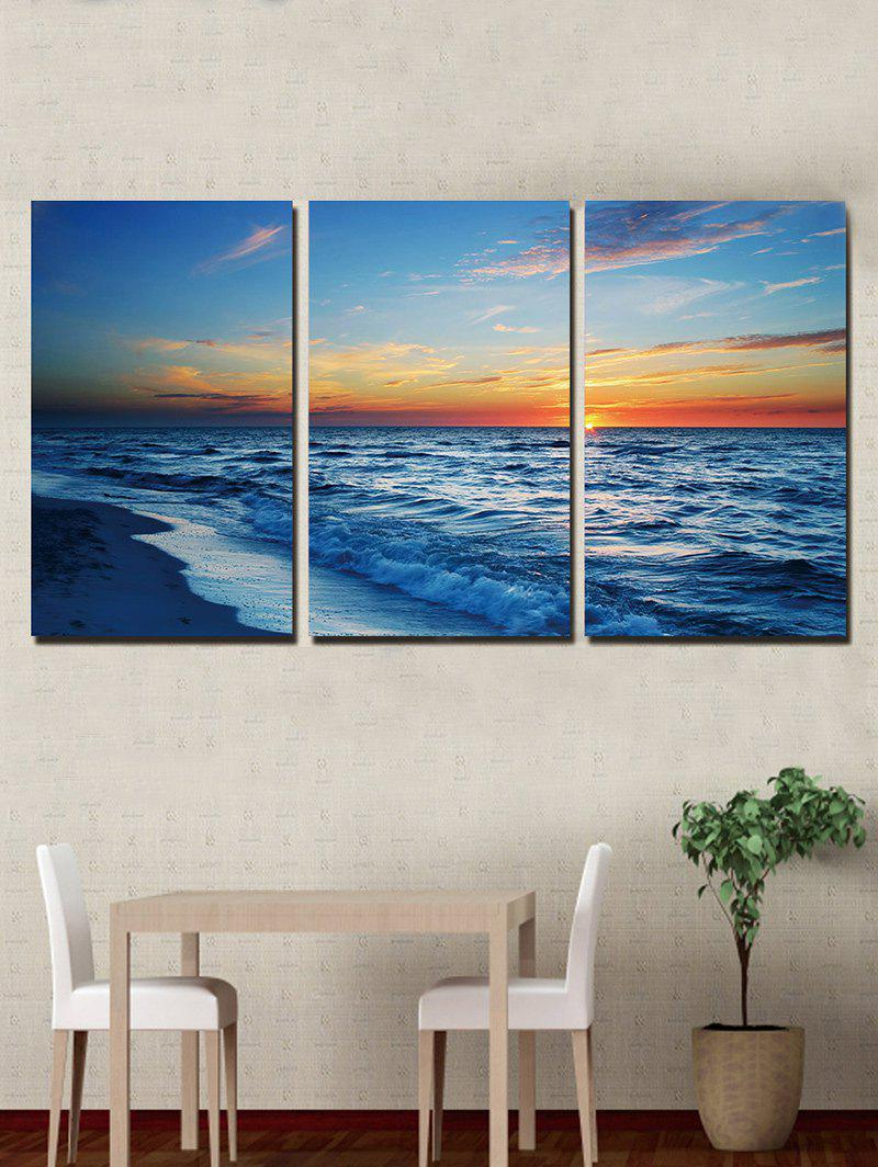 Beach Sunrise Print Unframed Split Canvas Paintings