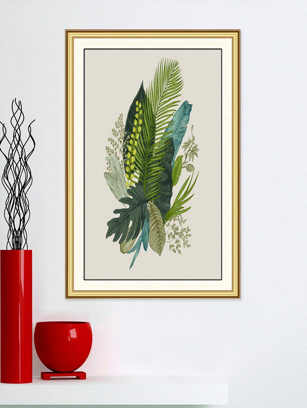 Affordable Tropical Leaves Print Wall Sticker for Bedrooms