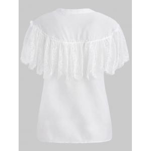 Lace Overlay Blouse -