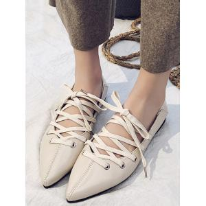 Leisure Ballerina Crisscross Pointed Toe Flats -