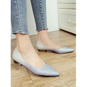 Leisure Slip On Pointed Toe Crystals Flats -