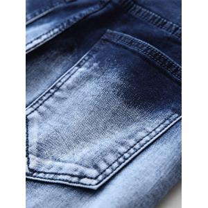 Jeans Zippered Denim Biker -
