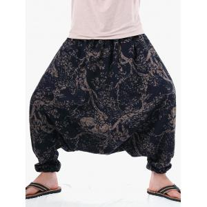 Casual Tree Print Harem Pants -