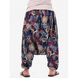 Casual Dragonfly Print Harem Pants -