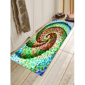 Cyclone Style Cobblestones Print Water Absorption Floor Rug -