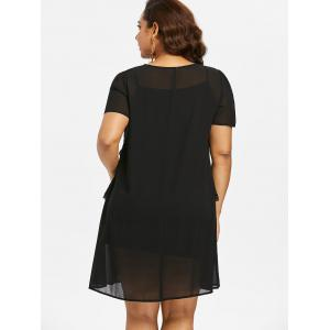 Layered Plus Size Nursing Shift Dress -