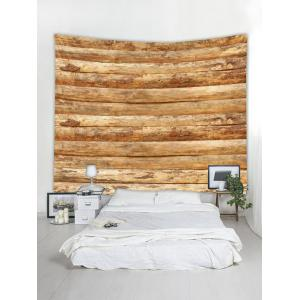 Vintage Horizontal Wooden Planks Print Wall Tapestry -