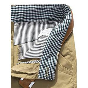 Plaid Hem Pocket Casual Shorts Pants -