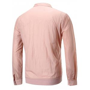 Kangaroo Pocket Solid Color Sunscreen Jacket -