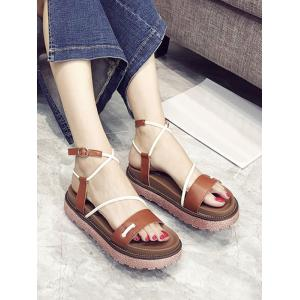 Leisure Outdoor Crisscross Ankle Strap Sandals -