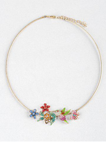 Chic Flowers Birds Butterfly Rhinestone Collar Necklace