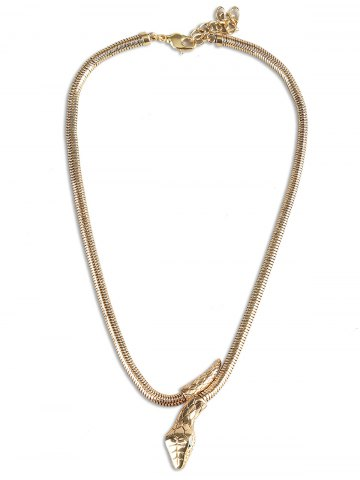 Store Snake Shaped Alloy Necklace