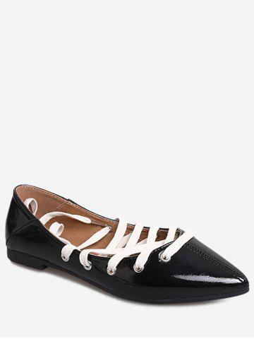 Outfit Leisure Ballerina Crisscross Pointed Toe Flats