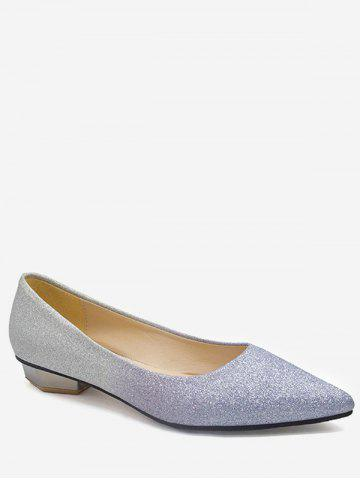 Fancy Leisure Slip On Pointed Toe Crystals Flats