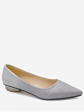 Unique Leisure Slip On Pointed Toe Crystals Flats