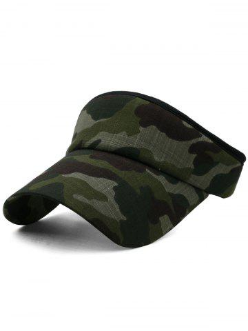 Discount Outdoor Camo Printed Open Top Sun Hat