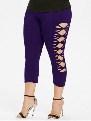 Best Plus Size Sides Open Capri Leggings