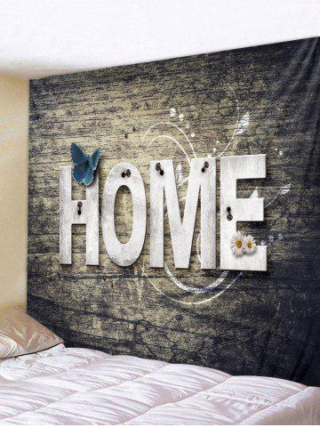 Hot Home Wooden Butterfly Flower Tapestry Decoration