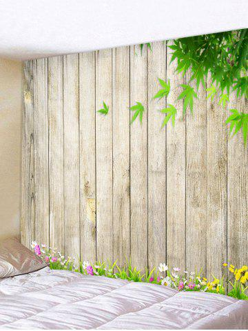 Outfits Wooden Flower Leaf Pattern Tapestry Hanging Decor