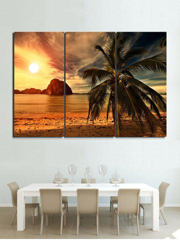 Affordable Beach Sunset Print Unframed Split Canvas Paintings