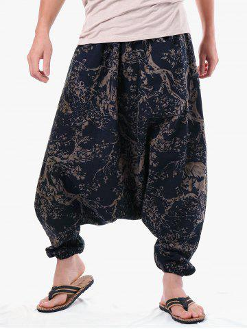 Buy Casual Tree Print Harem Pants