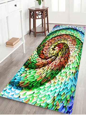 Fancy Cyclone Style Cobblestones Print Water Absorption Floor Rug