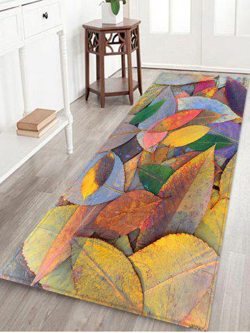 Discount 3D Falling Leaves Print Antiskid Floor Rug