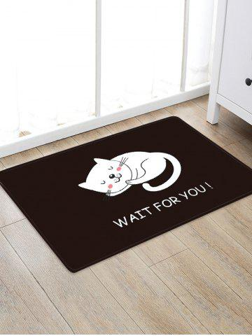 Uhommi Cartoon Sleeping Cat impression tapis antidérapant