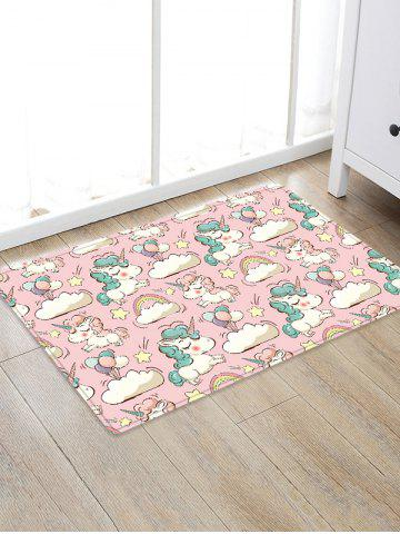 Uhommi Cartoon Unicorn impression Absorption de l'eau tapis tapis