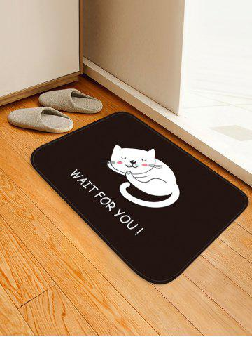 Buy Uhommi Cartoon Sleeping Cat Print Antiskid Floor Rug