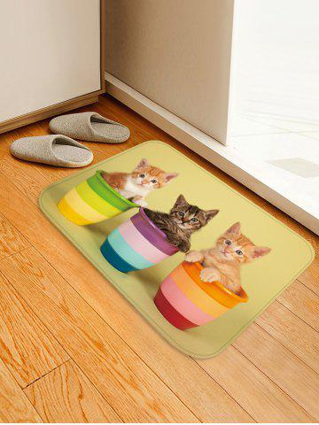 Latest Uhommi Kitten in the Flower Pot Print Bath Decor Floor Rug