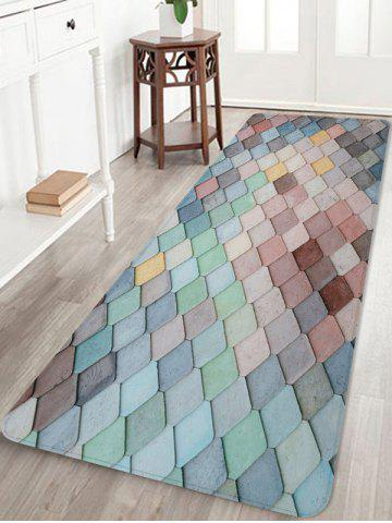 Latest Colorful Square Pattern Antiskid Floor Rug
