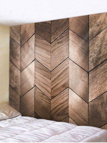 Unique Rhombic Wood Pattern Wall Hanging Art Tapestry