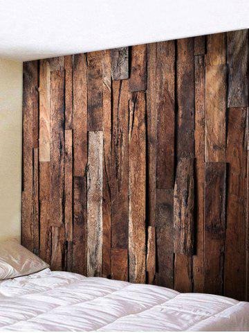 Store Uneven Wooden Planks Print Wall Tapestry