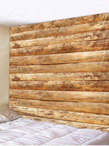 Shops Vintage Horizontal Wooden Planks Print Wall Tapestry