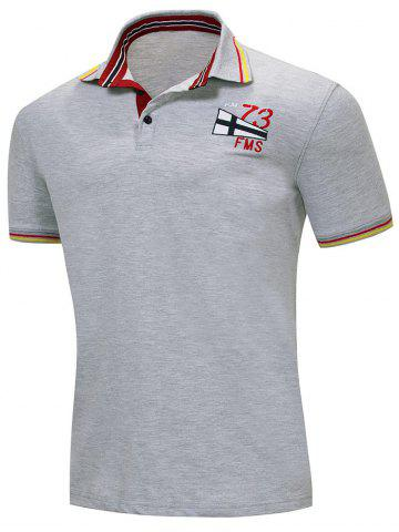 Unique Slim Fit Stripe Trim Polo T-shirt