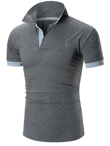 Online Slim Fit Embroidery Giraffe Polo T-shirt