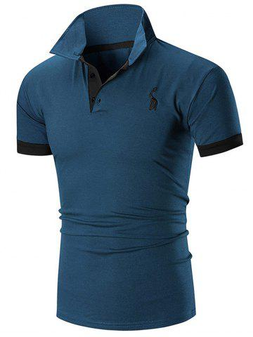 Sale Slim Fit Embroidery Giraffe Polo T-shirt