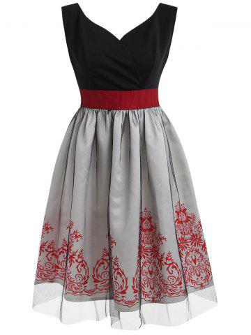 Buy Sleeveless Vintage Fit and Flare Dress