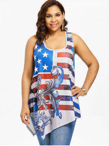 Plus Size American Flag Racerback Tank Top