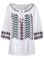 Casual Embroidery Blouse -