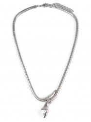 Collier en alliage en forme de serpent -