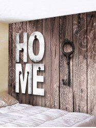 Home Wooden Key Pattern Tapestry Hanging Decor -