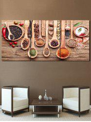 Flavoring Print Unframed Split Canvas Paintings -