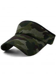 Outdoor Camo Printed Open Top Sun Hat -