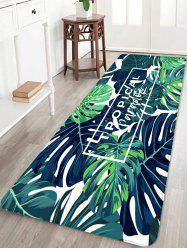 Tapis de sol en molleton Coral imprimé Tropical Leaf Jungle -